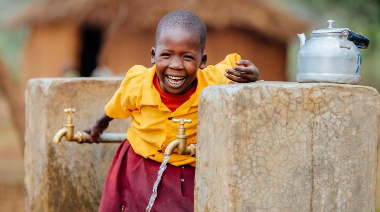 Cheru drinking clean water