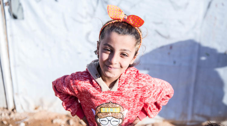 Syrian refugee girl child World Vision
