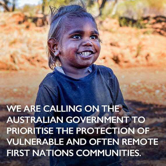 Calling on the Australian Government to prioritise the protection of First nations communities