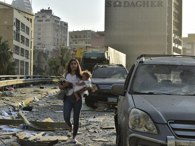 damage from the explosion in Beirut