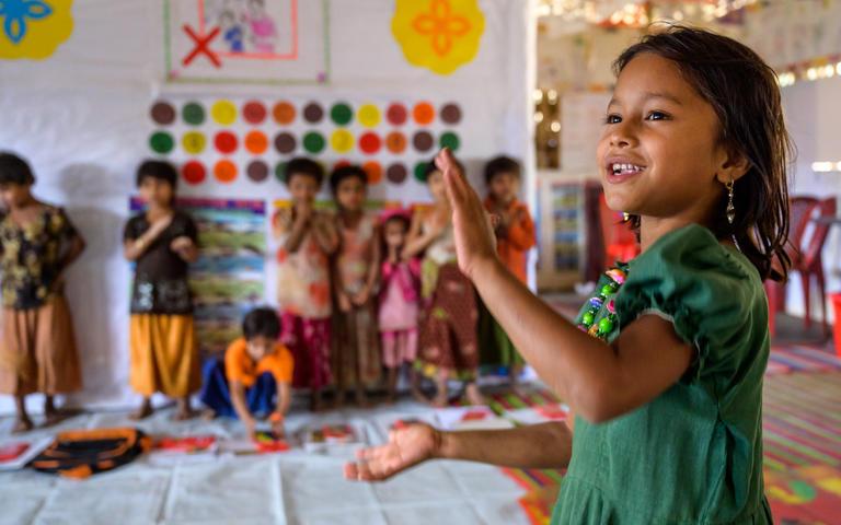 young Rohingya refugee Jannatulat kinder