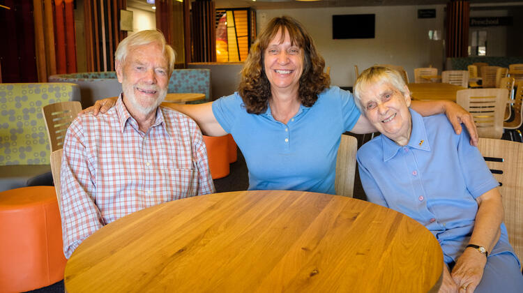 World Vision supporters John, Pam and Patricia Howard