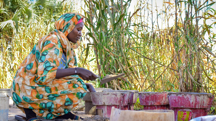 One of 500 women in Sudan's South Darfur state, Elham is supported through a cash-based assistance programme