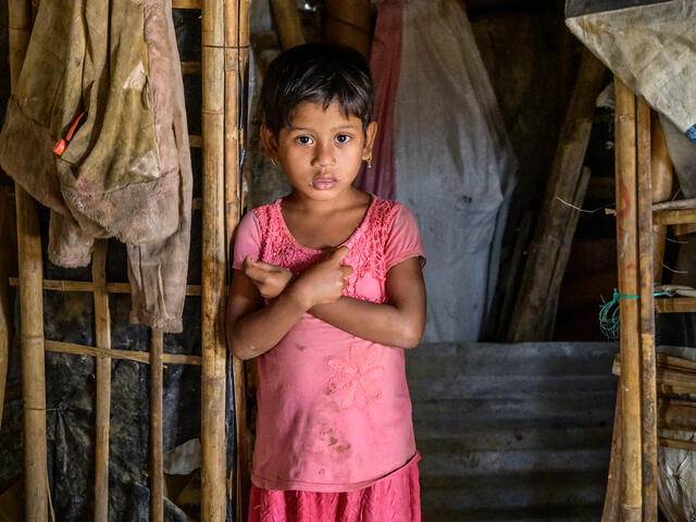 Rohingya refugee child