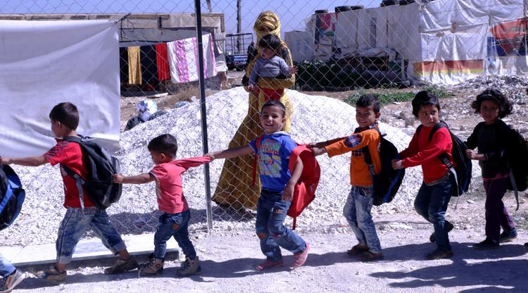 Syrian refugee children World Vision education school