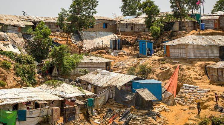 World Vision latrines in Cox's Bazar