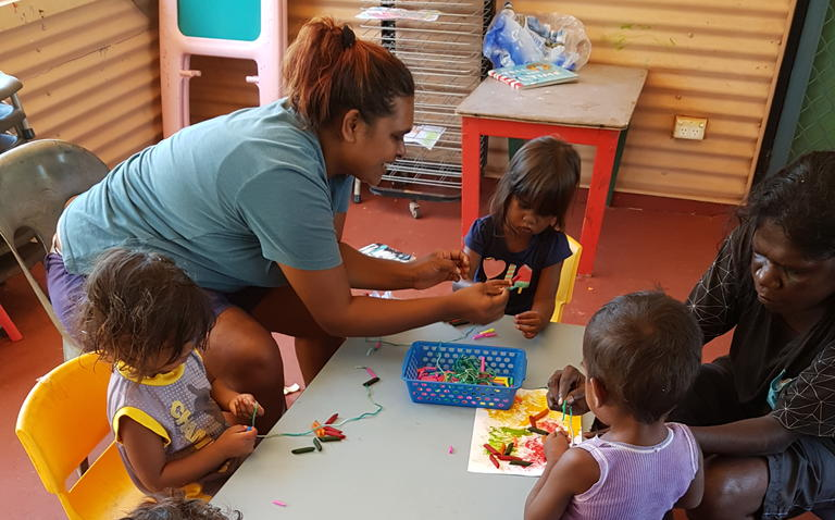 Indigenous children at an early childhood care development program