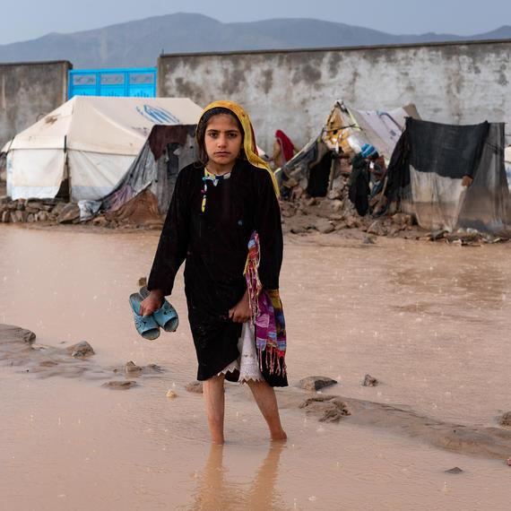 Flood waters in Afghanistan