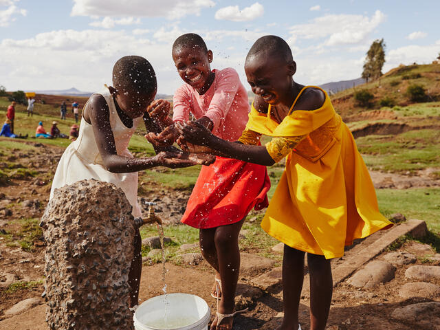 Access to essentials like clean water helps to lift communities from poverty