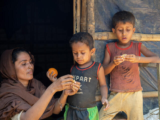 Rahazan can now choose and purchase food for her family
