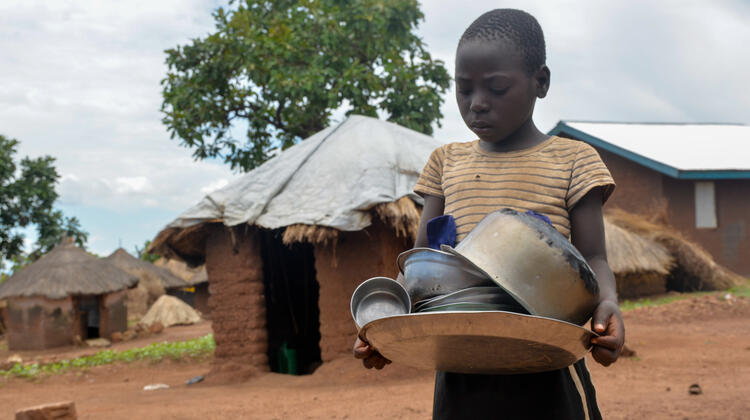 Evelyn's family are among those faced with the threat of starvation in Bidibidi.