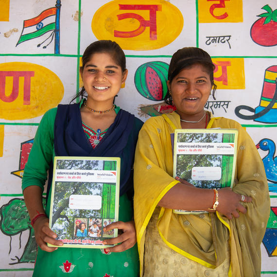 World Vision India designed activity book