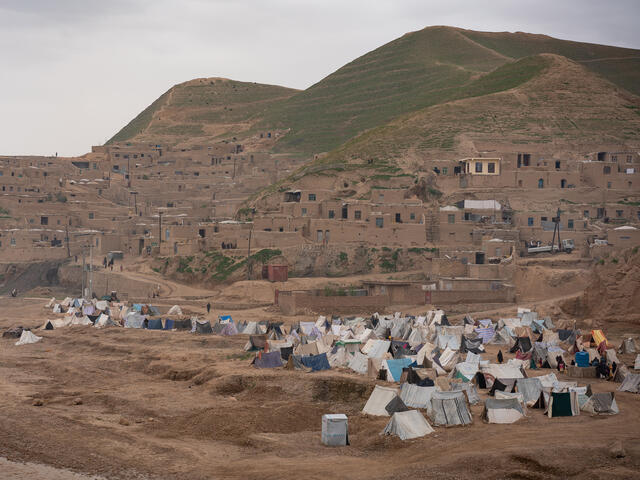 western Afghanistan makeshift camps